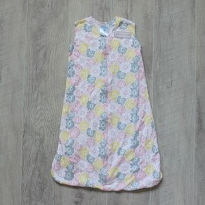 Pink & Yellow Floral Halo Sleep Sack Size Small